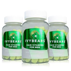 Pack 3 Ivy Bears Hair Vitamins for Men