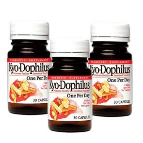 Pack 3 Kyo-Dophilus One Per Day - 30 cáps. - Kyolic