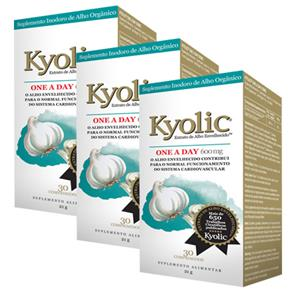 Pack 3 Kyolic One-a-Day (600mg)